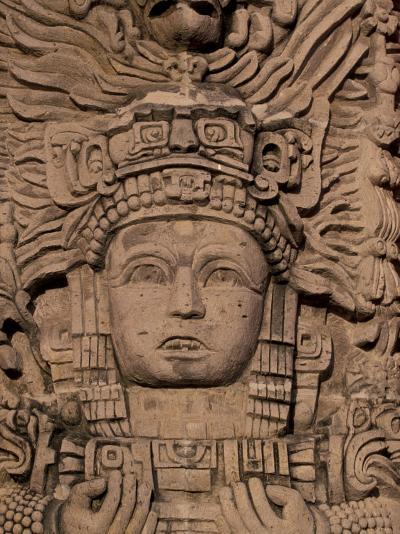 Hotel Mayan Palace, Mayan Sculpture, Puerto Vallarta, Mexico-Walter Bibikow-Photographic Print