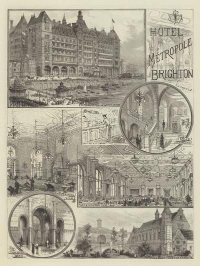 Hotel Metropole, Brighton--Giclee Print
