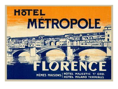 Hotel Metropole, Florence, Italy--Art Print