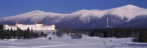Hotel Near Snow Covered Mountains, Mt. Washington Hotel Resort, Mount Washington, Bretton Woods,...