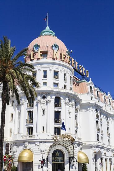 Hotel Negresco, Promenade Des Anglais, Nice-Amanda Hall-Photographic Print