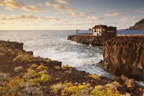 Hotel Punta Grande at Sunset, Las Puntas, El Golfo, Lava Coast, Canary Islands, Spain-Markus Lange-Photographic Print