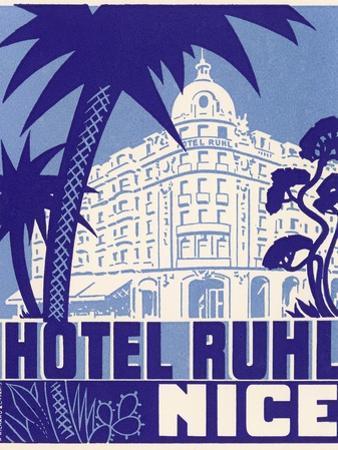 Hotel Ruhl Nice Luggage Label