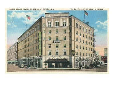 Hotel Sainte Claire, San Jose, California--Art Print