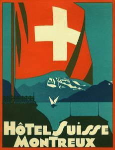 Hotel Suisse Montreux Luggage Label