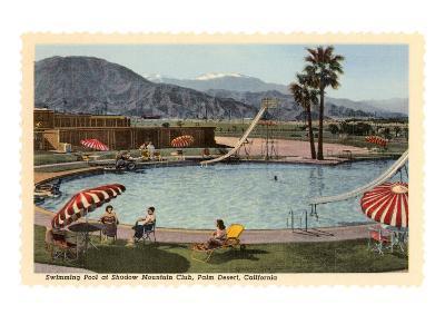 Hotel Swimming Pool, Palm Desert, California--Art Print