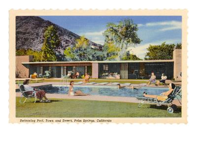 Hotel Swimming Pool, Palm Springs, California--Art Print