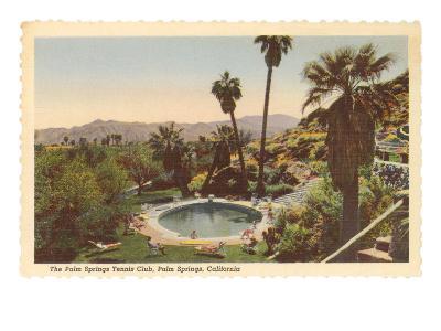 Hotel Swimming Pool, Palm Springs, California--Art Print