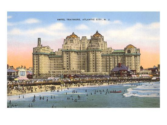Hotel Traymore, Atlantic City, New Jersey--Art Print