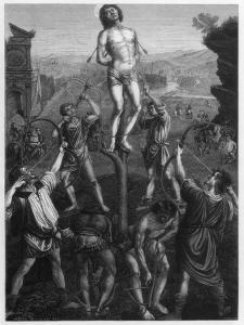Martyrdom of St Sebastian, 1473-1475 by Hotelin