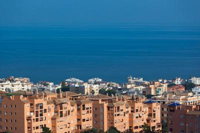 Hotels at the waterfront, Torremolinos, Malaga Province, Andalusia, Spain