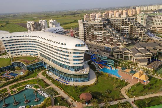 Hotels In Lara Beach Aerial Antalya Turkey Photographic Print By Ali Kabas Art