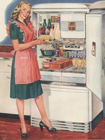 Hotpoint, Women in the Kitchen, Refrigerators, USA, 1940--Giclee Print