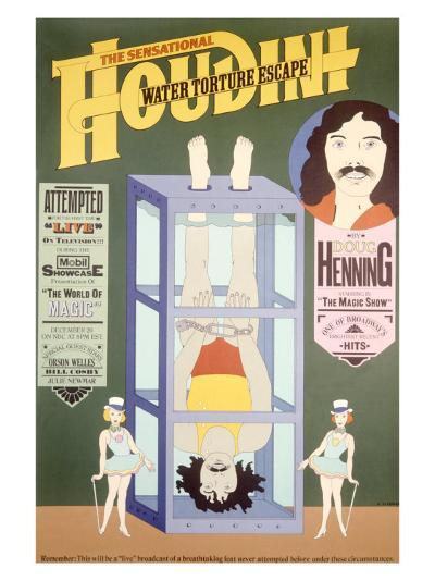 Houdini, Water Torture Escape--Giclee Print