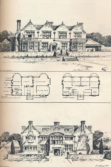 Houghton Grange, Near Huntingdon, C1897--Giclee Print