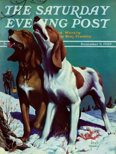 """Hound Dog,"" Saturday Evening Post Cover, December 9, 1939-Jack Murray-Giclee Print"