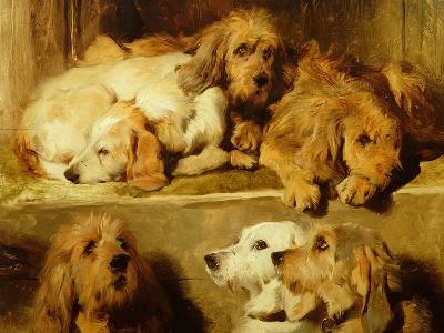Hounds in a Kennel-Edwin Henry Landseer-Giclee Print