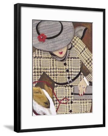 Houndstooth and Tweed II-Karen Dupré-Framed Art Print