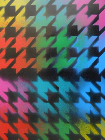 Houndstooth-Abstract Graffiti-Giclee Print