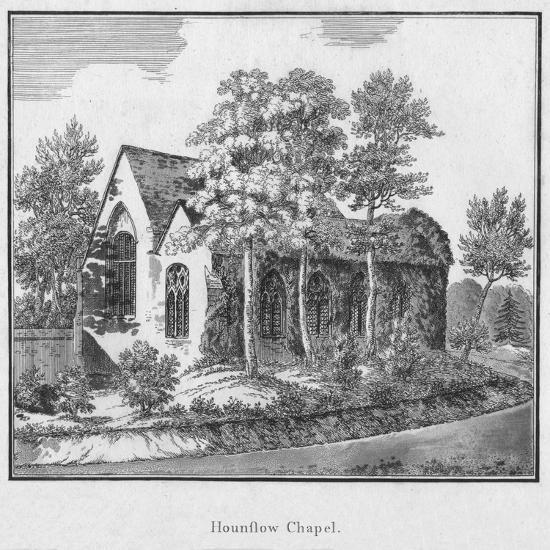 'Hounslow Chapel', c1792-Unknown-Giclee Print