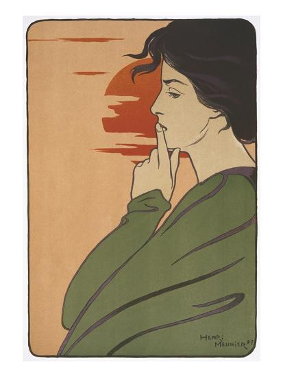Hour of Silence-Henri Meunier-Giclee Print