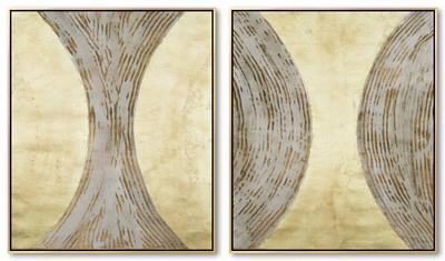 Hourglass Framed Canvas Set