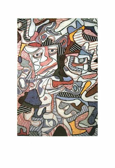 Hourloupe, 1963-Jean Dubuffet-Art Print
