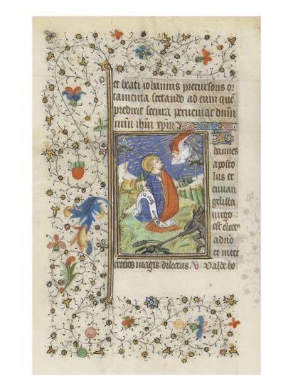 Hours for the Use of Troyes. St. John the Evangelist--Giclee Print