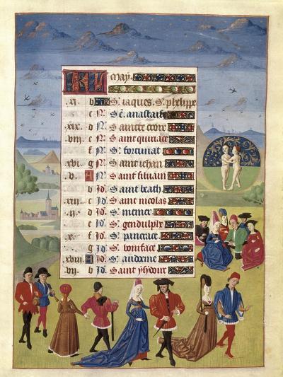 Hours of Adelaide of Savoy-Adelaida de Saboya and Jean Rolin-Art Print