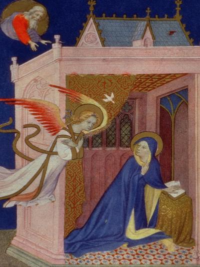Hours of Notre Dame: Matins, the Annunciation, French, by Jacquemart de Hesdin--Giclee Print