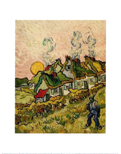 House and Figure, c.1890-Vincent van Gogh-Art Print