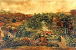 House and Mill in Rural Woodland, c,1880