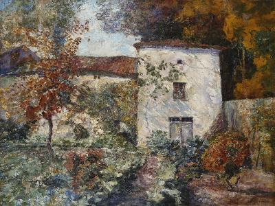 House and Orchard in the Autumn; Maison Et Verger a L'Automne-Victor Charreton-Giclee Print