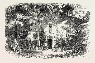 House and Statue of Joan of Arc, Jean D'Arc, at Domremy, Domremy-La-Pucelle, France, 1865--Giclee Print