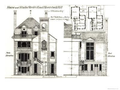 House and Studio, Steele's Road, Haverstock Hill, from The Building News, 9th February 1877--Giclee Print