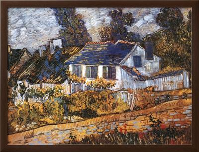 House at Auvers-Vincent van Gogh-Framed Textured Art