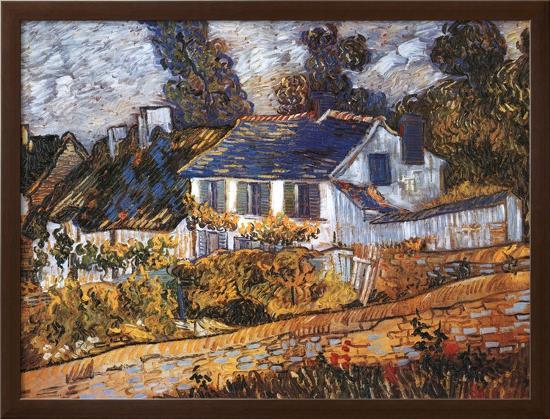 House at Auvers-Vincent van Gogh-Framed Textured Art