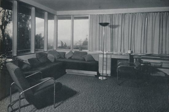 'House at Los Angeles by Richard J Neutra. - An interior shot of the living quarters', 1942-Unknown-Photographic Print