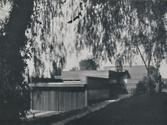 'House at Los Angeles by Richard J Neutra. - The aspect from the road approach', 1942-Unknown-Photographic Print