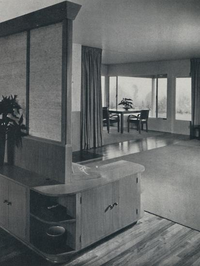 'House at Pomona, California...looking across the living room', 1942-Unknown-Photographic Print