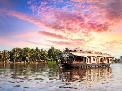 House Boat in Backwaters-Marina Pissarova-Photographic Print