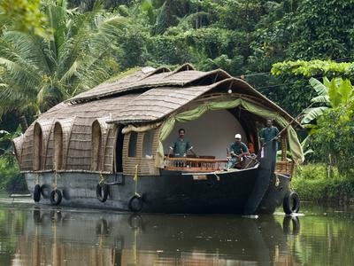 House Boat on the Backwaters, Near Alappuzha (Alleppey), Kerala, India, Asia-Stuart Black-Photographic Print