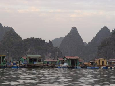 House Boats, Halong Bay, Cat Ba National Park, Northern Vietnam, Southeast Asia-Christian Kober-Photographic Print