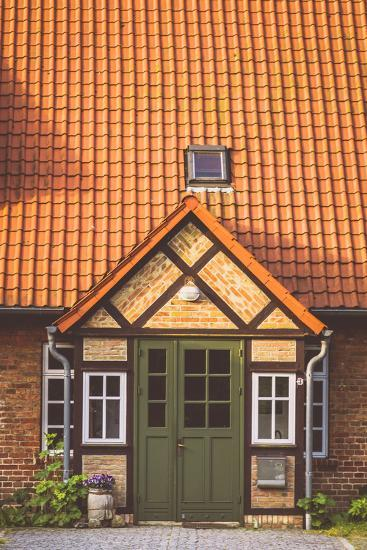 House Entrance Into Some Classic Northern German Brick Houses In Rerik, Germany-Axel Brunst-Photographic Print