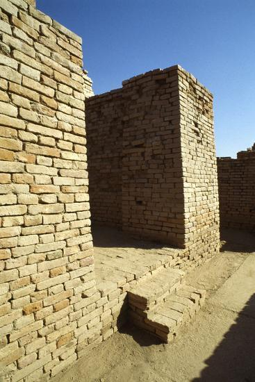 House Entrance with Steps and Sloping Walls in the Lower Town of the Mohenjo Daro--Photographic Print