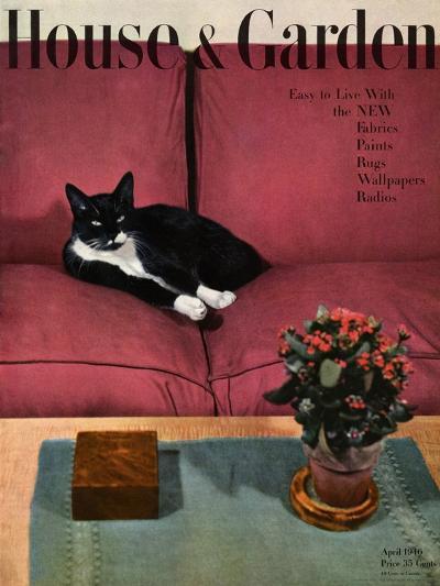 House & Garden Cover - April 1946-Andr? Kert?sz-Premium Giclee Print