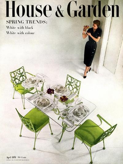 House & Garden Cover - April 1951-Herbert Matter-Premium Giclee Print