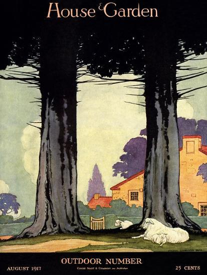 House & Garden Cover - August 1917-Charles Livingston Bull-Premium Giclee Print