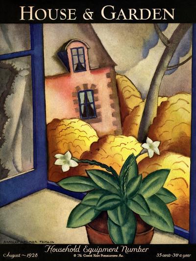 House & Garden Cover - August 1928-Bradley Walker Tomlin-Premium Giclee Print