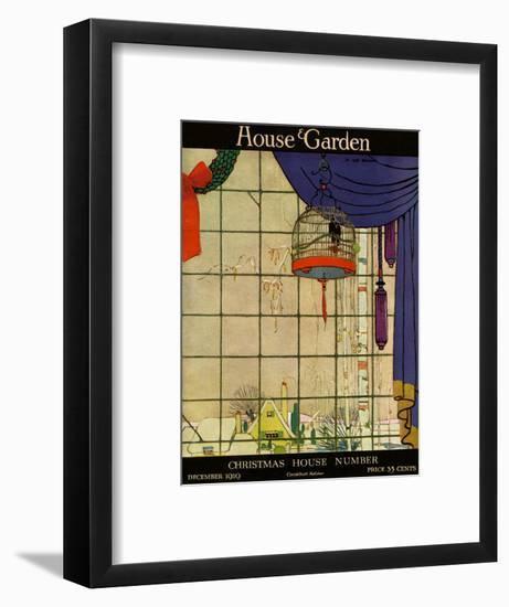 House & Garden Cover - December 1919-H. George Brandt-Framed Premium Giclee Print